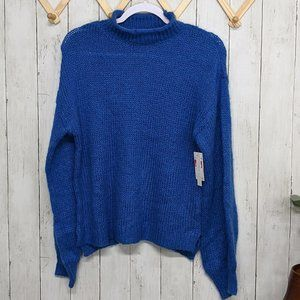 Abound Blue Knitted Turtleneck Sweater
